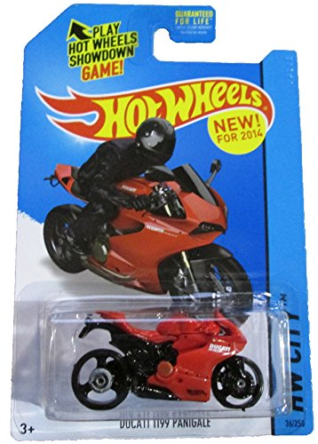 HOT WHEELS HW CITY 2014 RELEASE RED AND BLACK DUCATI 1199 PANIGALE DIE-CAST - 1