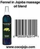 8 Oz 100% Natural Fennel Massage Oil in Jojoba - Foeniculum Vulgare - Hohoba - Simmondsia Chinenis - Breast Augmentation Oil