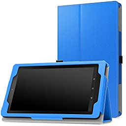 MoKo Case for Fire 7 2015 - Slim Folding Cover for Amazon Fire Tablet (7 inch Display - 5th Generation, 2015 Release Only), BLUE