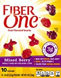 Fiber One Fruit Flavored Snacks, Mixed Berry, 10 Pouches, 8 oz.