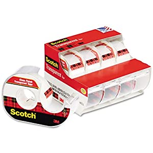 Transparent Tape & Handheld Dispenser, 3/4'' x 850'', Clear, 4/Pack