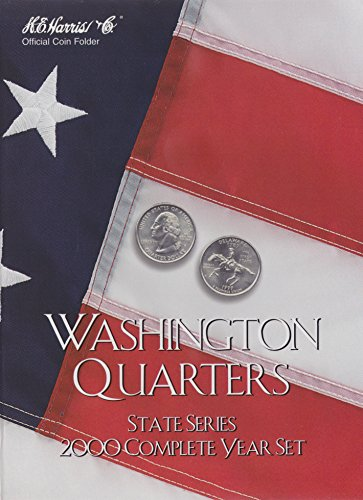 Harris Coin Folder - State Series Quarters Complete Year 2000 Ref#8HRS2583 - 1