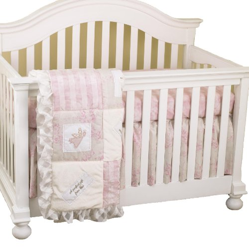 Cotton Tale Designs Heaven Sent Bedding Set, Pink/Cream, 3 Piece