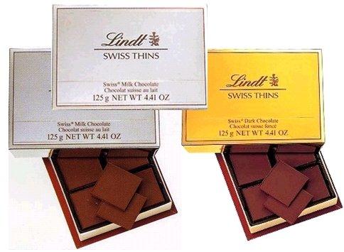 Lindt(リンツ) エキストラシンお買得3箱セット (ミルクエキストラシン125G×2・ビタースイート 125G×1) 手提げ袋付