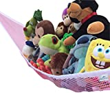 Toy Hammock Pink Large Toy Organizer For Stuffed Animals, Stuffed Toys Toy Storage (Pink)
