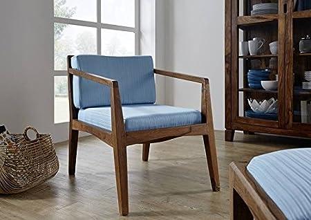 Sheesham Massivmöbel lackiert Sessel Palisander Holz massiv Massivholz braun Ancona #115
