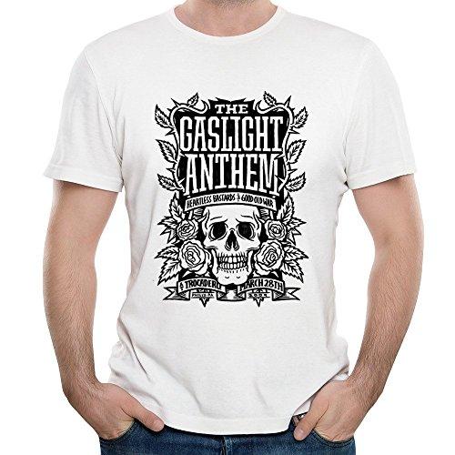 FIVE Miumine The Gaslight Anthem Band Skull Logo 2016 Unique Men's T-shirt
