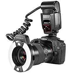 Neewer® Macro TTL Ring Flash Light with AF Assist Lamp for Canon E-TTL TTL Cameras / such as Canon EOS 5D Mark II EOS 6D EOS 7D EOS 70D EOS 60D EOS 60Da EOS 700D 650D 600D 400D 350D 300D 100D 1000D 1100D Rebel T5i T4i T3i Xti XT SL1 XS T3