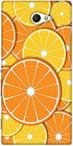 Snoogg Orange Fever 2372 Designer Protective Back Case Cover For Sony Xperia M2