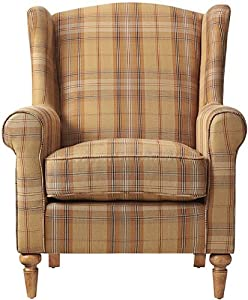 Amazon Com Collins Wingback Chair 41 Quot Hx32 Quot Wx35 Quot D Brown