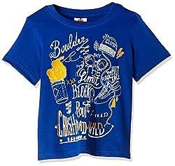UFO Boys' T-Shirt (AW-16-KF-BKT-205_True Blue_6 - 7 years)