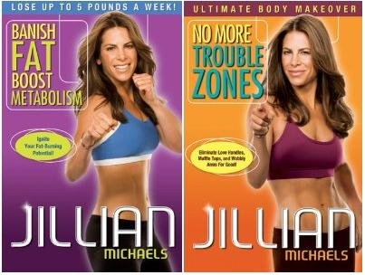 Jillian Michaels 2-Pack Dvd Set. Banish Fat Boost Metabolism And No More Trouble Zones