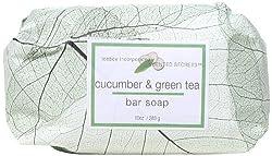 My Scented Secrets Green Tea Bar Soap, Cucumber Melon, 10 Ounce