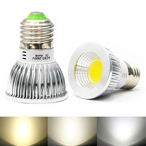 Eyourlife E27 6W Dimmable Led Cob Spot Down Light Ceiling Lamp Bulb Color Warm White