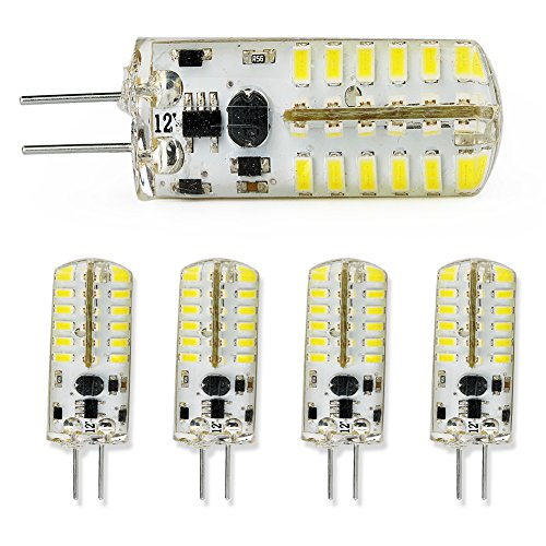 5X 2.4W G4 Pin Base Led Bulbs Spot Light Lamp Cool White Ac/Dc 12V Smd 3014 New