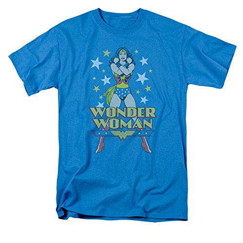 DC WONDER WOMAN - Short Sleeve ADULT T-Shirt - TURQUOISE