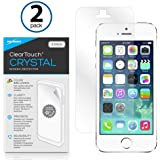 BoxWave Apple iPhone 5s ClearTouch Crystal (2-Pack) Screen Protector - Premium Quality, Ultra Crystal Clear Film Skin to Shield Against Scratches (Includes Lint Free Cleaning Cloth & Applicator Card) - Apple iPhone 5s Screen Guards and Covers