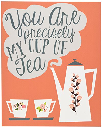 "Lucy Darling Cup of Tea Print Wall Decor, Coral, 8""x 10"" - 1"