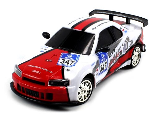 Super Stunt Electric Full Function Nissan Skyline Gtr Cyclone 360° Rotation Rtr Rc Stunt Car Rechargeable, (Colors May Vary)