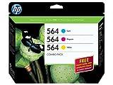 HP 564 Cyan/Magenta/Yellow Original Ink Cartridge Combo Bonus Pack