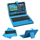 NEWSTYLE Blue Universal 9-10.5 Inch Tablet Portfolio Leather Case W Detachable Bluetooth Keyboard Samsung Galaxy Tab 10.1 / Tab 2 10.1 / Tab 3 10.1 / Tab 4 10.1 / Note 10.1 / Note 10.1 2014 Edition / Asus Transformer TF101 TF201 TF300 TF600 TF700 / Goggle Nexus 10 / DEll XPS 10.1 / Nook HD / Apple iPad 2 3 4 / Galaxy Tab S 10.5 Support Android / IOS / Windows Systems