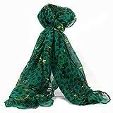 Everyday soft scarf, shawl, wrap - Owl Design - Green