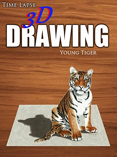 Time Lapse 3D Drawing: Young Tiger