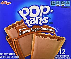 Pop-Tarts Frosted Brown Sugar Cinnamon Toaster Pastries, 12-Count