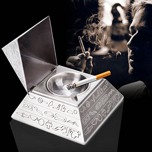 Tri-polar Vintage Novelty Egyptian Magic Carving Pyramid Clamshell Ashtray,Decoration Ashtray,Metal Ashtrays,Novelty Ashtray-As Fantasy Gifts for Men or Smokers (Pyramid Glass Display Case compare prices)