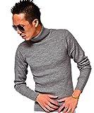 ジョーカーセレクト(JOKER Select) タートルネック メンズ ニット ハイネック セーター タートル 無地 ニットセーター L Mグレー(14)