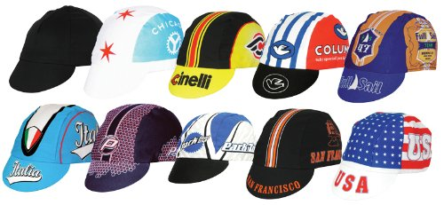 Pace Cycling Caps 10-pack Assorted Themed