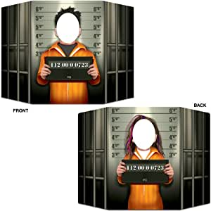 PSI Mug Shot Photo Prop (1 side male; other side female) Party Accessory  (1 count) (1/Pkg)