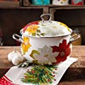 The Pioneer 4-Qt Woman Poinsettia Dutch Oven