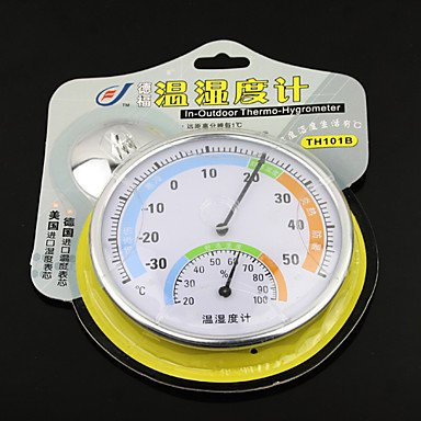 Commoon Indoor Outdoor Wall Mount Thermometer Thermo Hygrometer