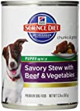 Hill's Science Diet Puppy Savory Stew Beef and Vegetables Dog Food Can, 12.8-Ounce, 12-pack