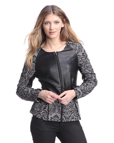 W118 by Walter Baker Women's Kendall Jacket  [Black/White]