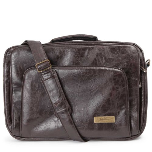 Ju-Ju-Be Gigabe Laptop Carrier Earth Leather - Brown/Teal front-347353
