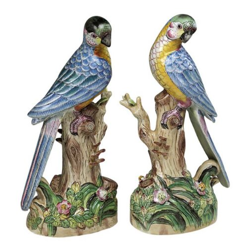 Amazon.com - Andrea by Sadek Exotic Birds Parrot Figurine Pair