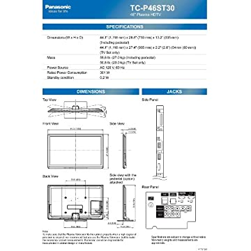 Panasonic TC-P60ST30 Reviews