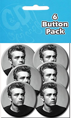 "C&D Visionary P/S James Dean Close Up 1.25"" Button (6-Piece)"