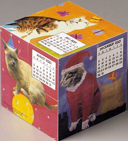 Cats Mental Block 2001 Calendar and Desk Toy
