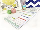 """bloom daily planners Planning System Tear Off To Do Pad - Teal Daily Planner To Do Pad 6"""" x 9"""""""