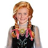 Disguise Disney's Frozen Anna Child Wig Girls Costume, One Size Child