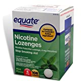 Equate - Nicotine Lozenge 4 mg, Stop Smoking Aid, Mint Flavor, 108 Lozenges