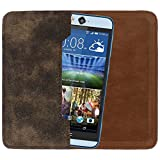 D.rD PU Leather Mobile Case And Cover With Carry Pouch For Videocon A53