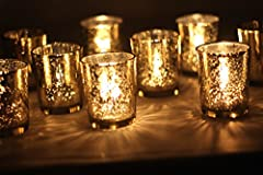 Mercury Votive Candle Holder. Set of 12 (gold)