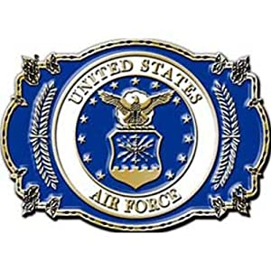 U.S. Air Force Belt Buckle Enamel Blue & Red