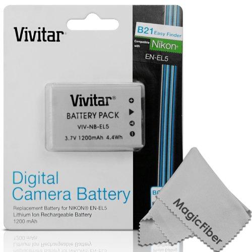 Vivitar En-El5 Ultra High Capacity 1200Mah Li-Ion Battery For Nikon Coolpix P530, P520, P510, P100, P500, P5100, P5000, P6000, P90, P80 (Nikon En-El5 Replacement)