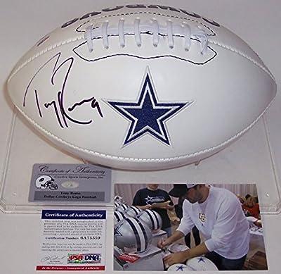 Tony Romo Autographed Hand Signed Dallas Cowboys Logo Football - PSA/DNA