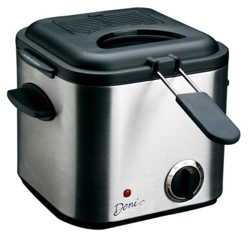 Deni 9301 Mini 840-Watt 1-1/4-Quart Stainless-Steel Deep Fryer